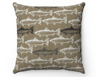 Trout Pillow Etsy