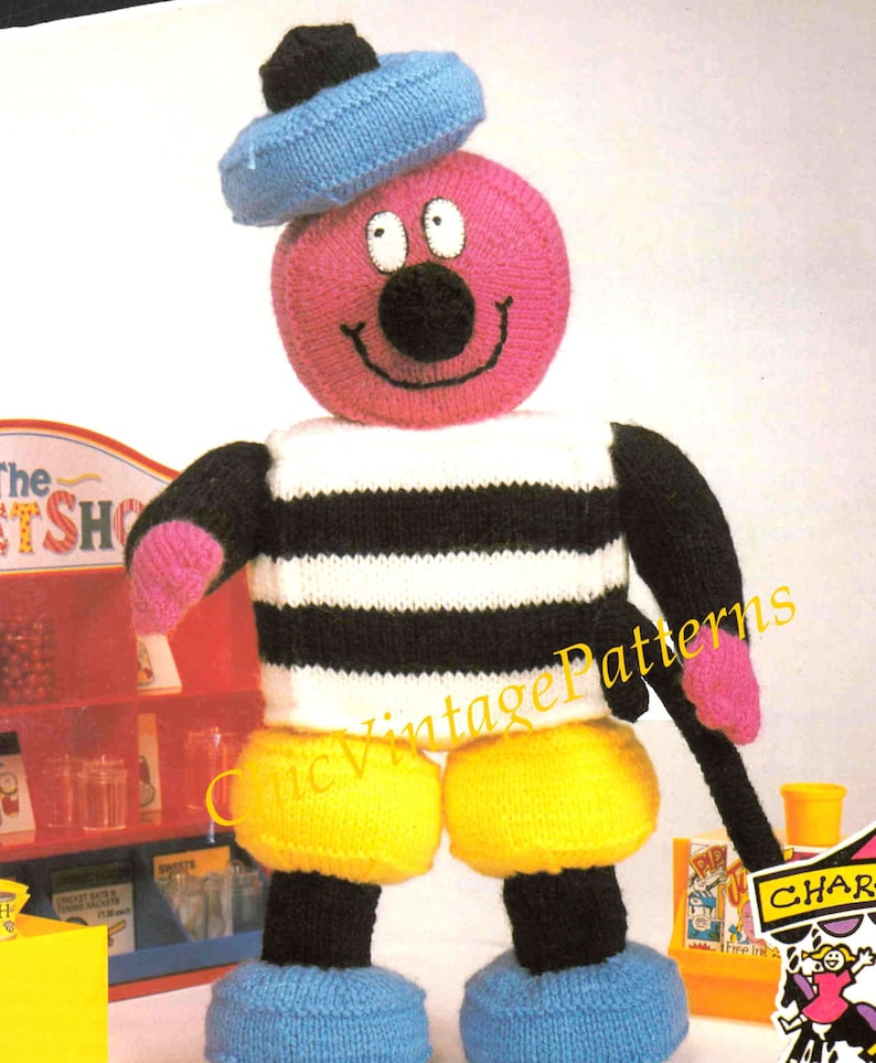 bb3b490b0 Bertie Bassett Toy Knitting Pattern ... Licorice Allsorts Toy