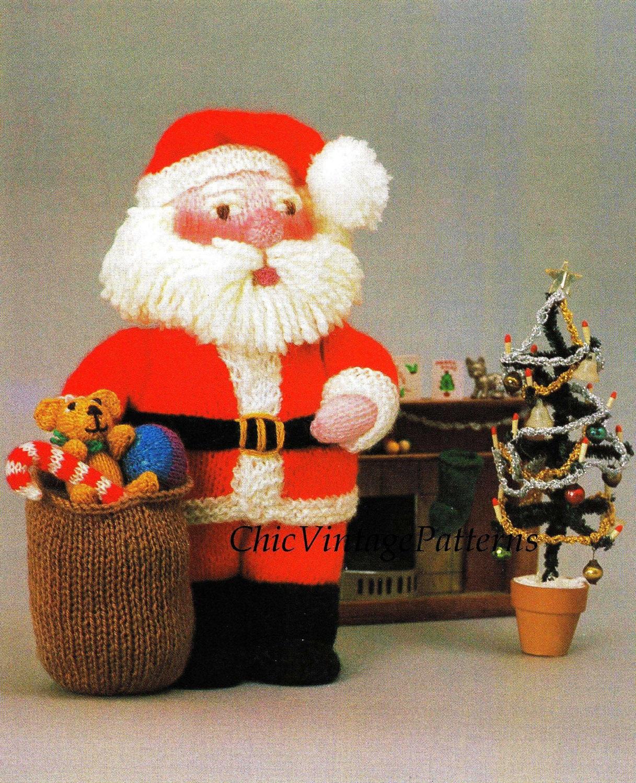 Knitted Santa ... Soft Toy Pattern ... Christmas Pattern