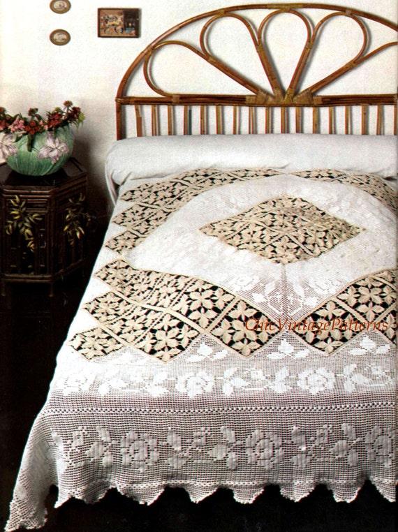 Crochet Bedspread ... PDF Crochet Pattern ... Stunning Heirloom Bedspread ... Home Decor ... Keepsake, Gift ... Instant Download