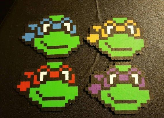 High Quality Perler TMNT Bead Sprite Pixel Art Ninja Turtles | Etsy