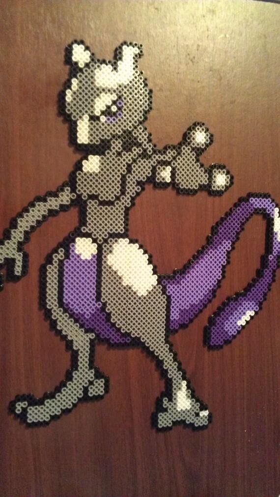 Perler Pokemon Mewtwo Bead Sprite Pixel Art Pokemon Go Etsy