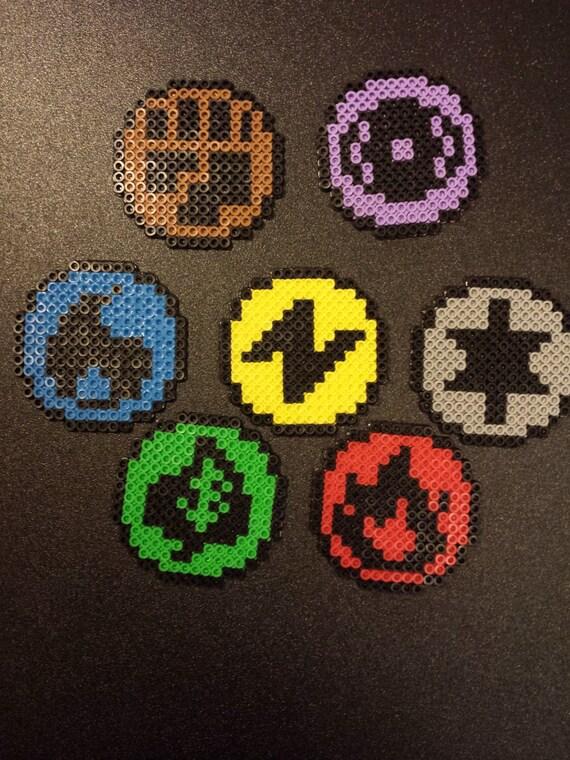 Perler Pokemon Tcg Type Symbols 7 Options Bead Sprite Etsy