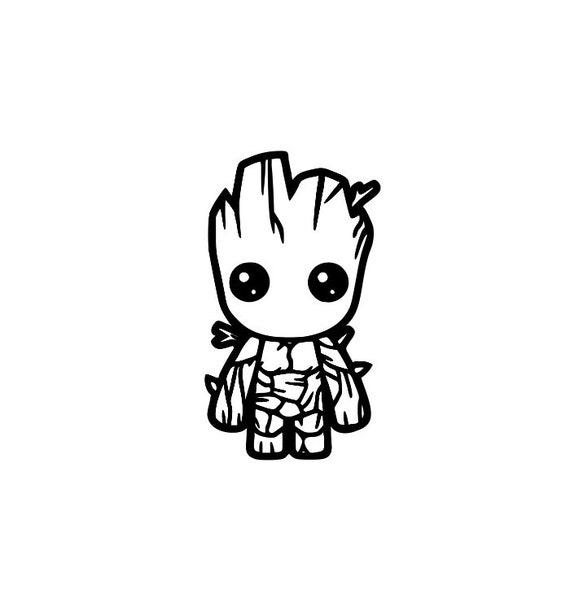 Baby Groot Vinyl Decal Sticker Super Hero Decal Groot   Etsy