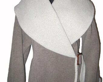 Fleece Wrap Jacket Ash