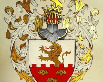 Personalised heraldry/Tania Crossingham/Coat of Arms/Amorial achivement/family crest