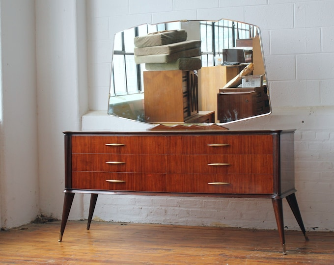 Italian Modern Vanity Dresser and Mirror