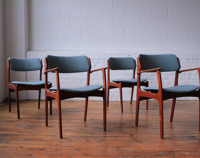 Set of 4 Erik Buch Chairs, Two no. 49 and Two no.50