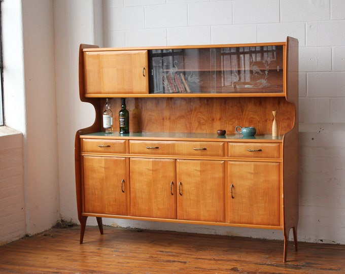 Clearance! Italian Modern Floating Hutch and Credenza