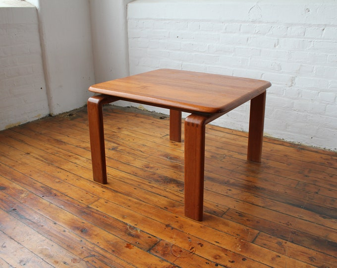 Danish Modern Solid Teak End Table