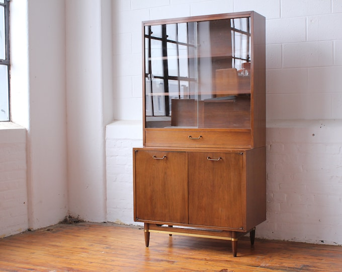 Dania Two-Piece Compact Cabinet and Hutch