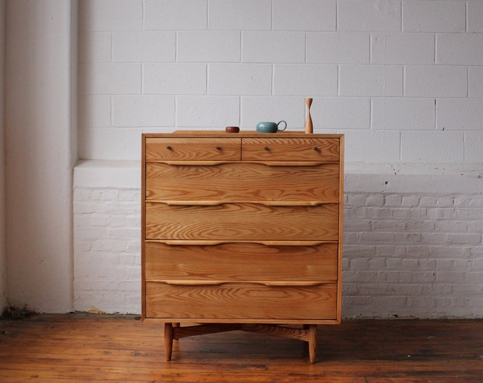 Restored Heywood Wakefield Blonde Danish Dresser