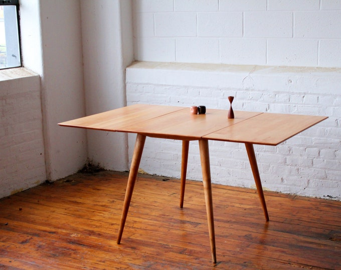 Restored Paul Mccobb Planner Group Drop Leaf Table