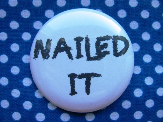 2.25 inch pinback button badge or magnet I put the PRO in Procrastinate