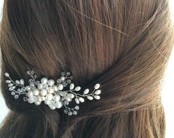 Bridal Hair Comb, Pearl Hair Comb, Wedding Hair Comb, bridal accessories headpiece hair piece, ivory pearl hair comb