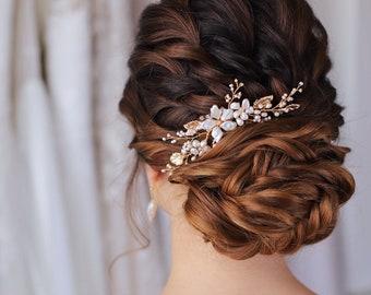 Enya floral haircomb, wedding hair comb, bridal accessories, bridal headpiece, bridal hair piece, wedding comb, bridal hair accessories