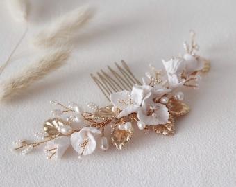 Willow Floral Hair Comb, Wedding hair Comb, bridal accessories, bridal headpiece, bridal hair piece, wedding comb, bridal hair accessories