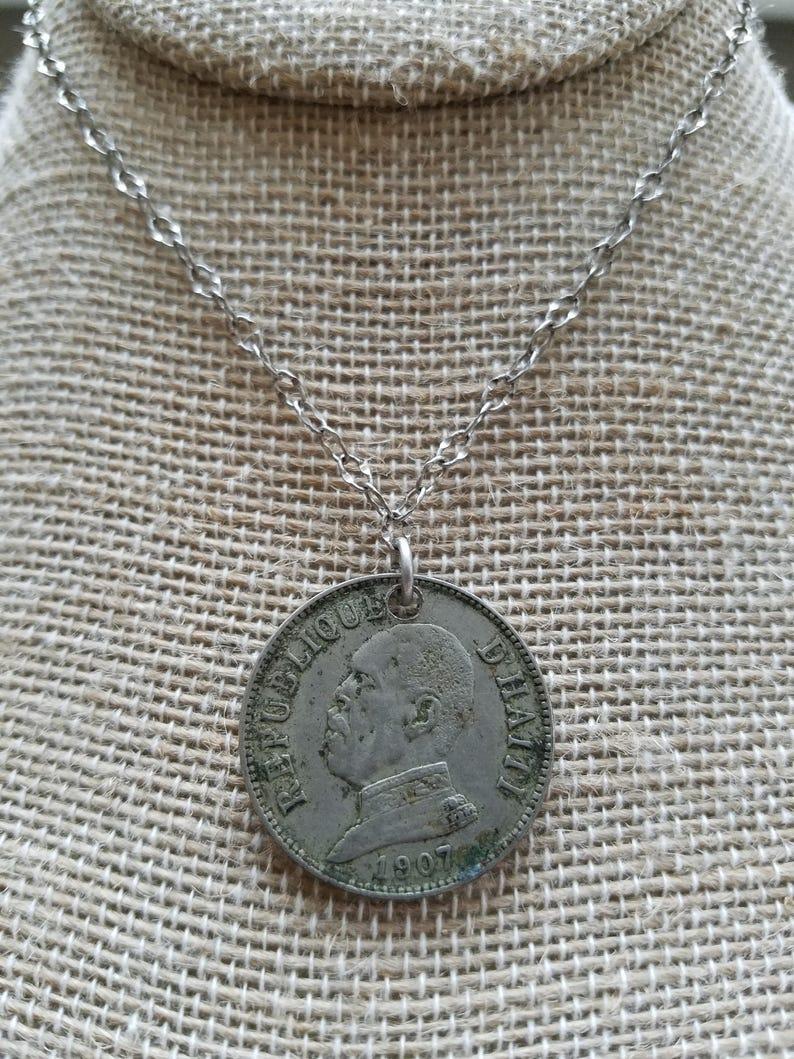 1907 Republic of Haiti Coin Necklace 000585