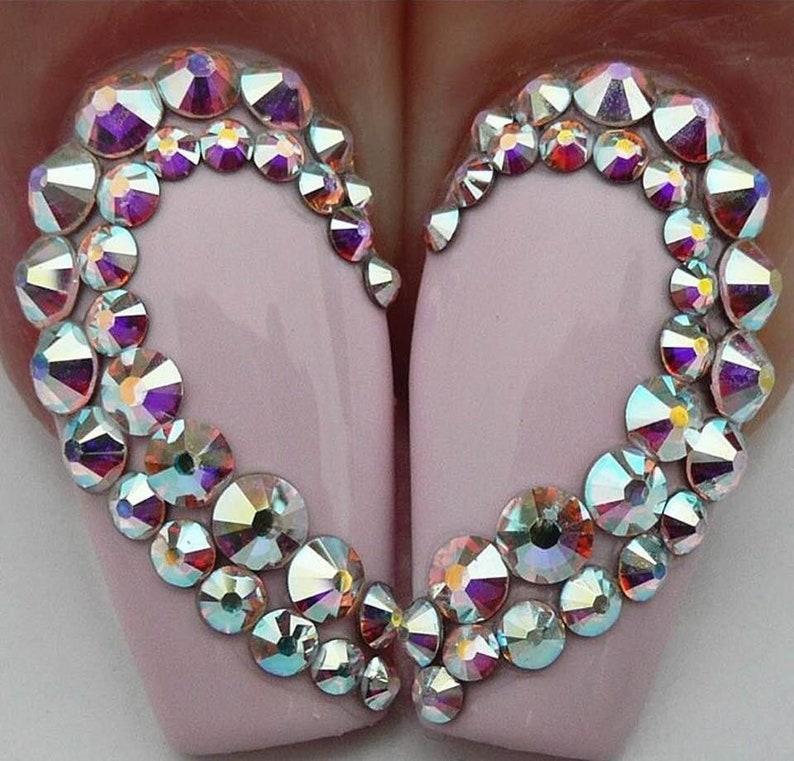 cc5f4cde0738 Swarovski cristal AB gemas de piedras planas de pedrería para uñas arte  zapatos bailan vestuario etcetera - hotfix no