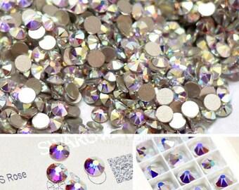 ss20 4.5mm Swarovski crystal AB xirius flat back non hotfix crystals rhinestone stones gems strass for nail art and design