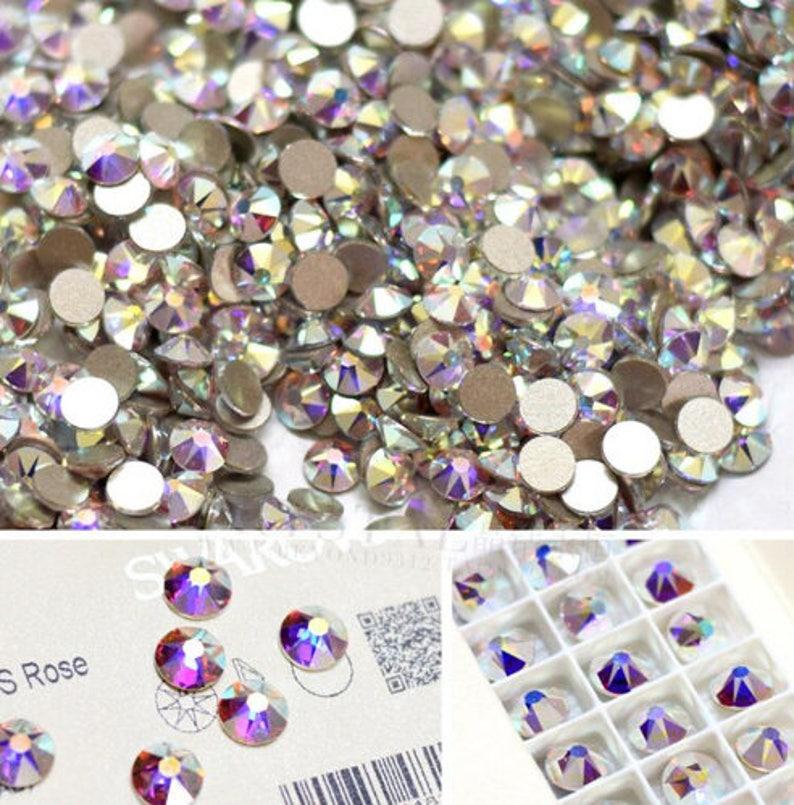 Ss20 4.5mm Swarovski crystal AB xirius flat back non hotfix  3863d28e2843