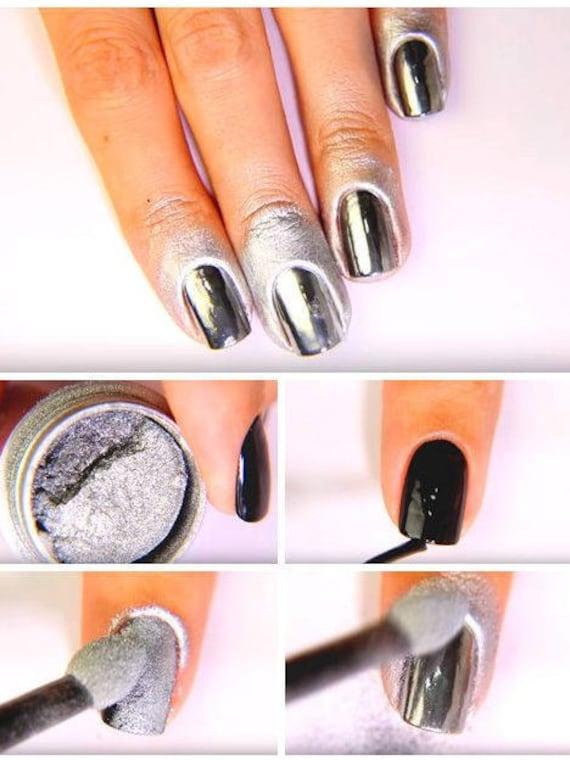 Mirror Chrome Nail Art Powder Pigment Metallic Nail Art 2017 | Etsy