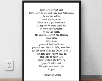 Bukowski Download Etsy
