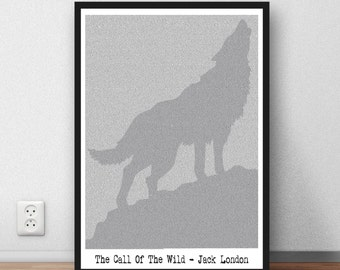 Jack London Quote - The call of the wild - Jack London -  Every last word. Art print poster Book on a page
