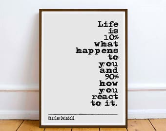Charles Swindoll quote  Art poster print poster inspiration motivation humour wall gift christmas