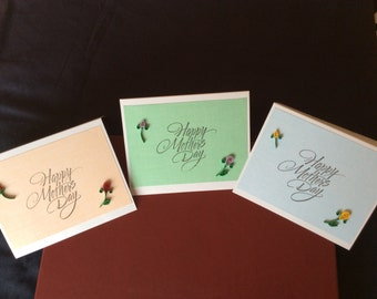 Quilled, Handmade Mother's Day Card