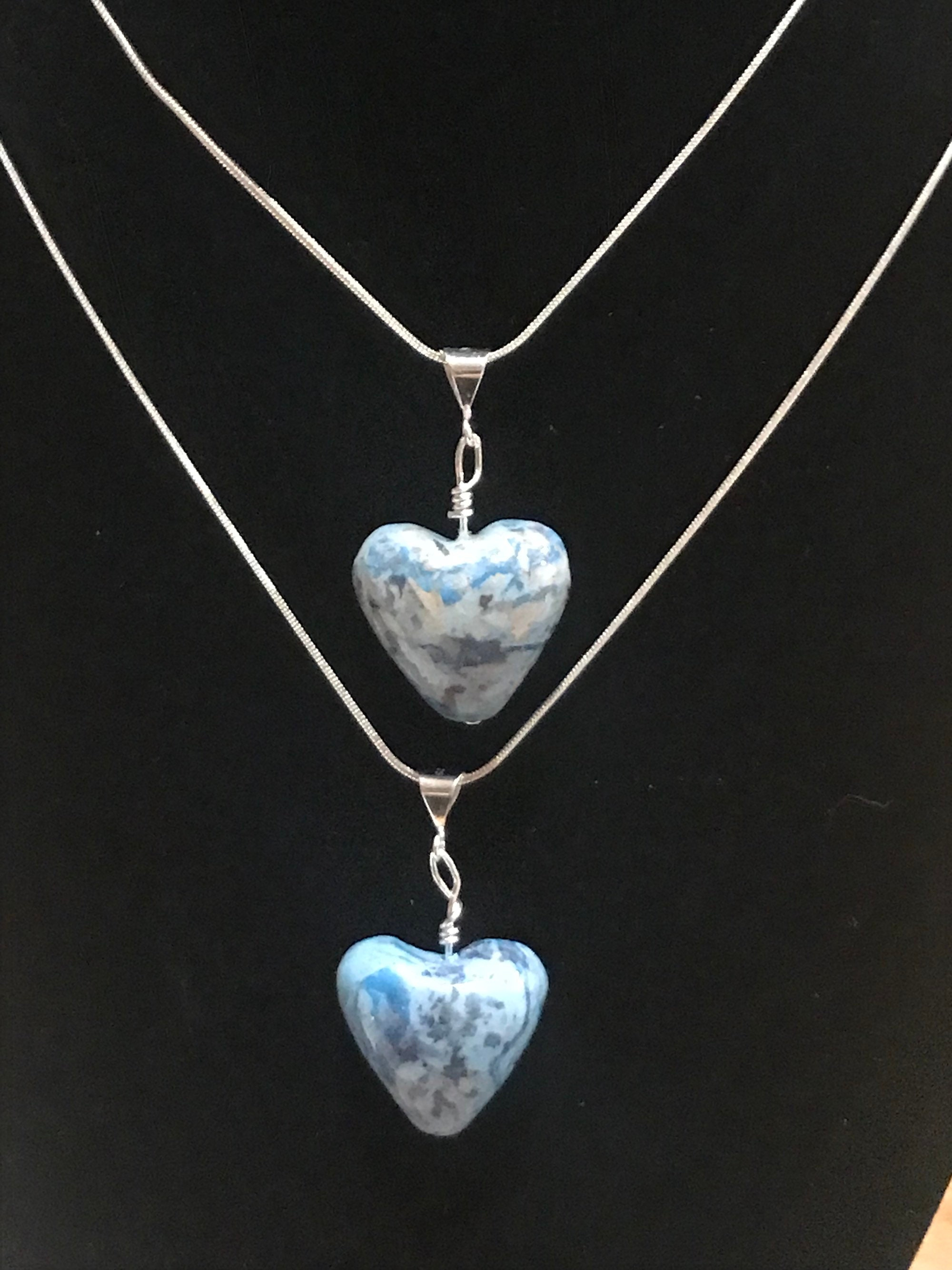 Real Flower Petal Keepsake Heart Shaped Pendant Style Bead