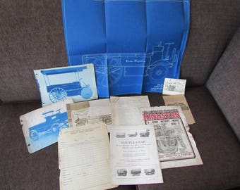 Vintage Lot of Couple Gear Engine Ephemera Patent Schematic Photos Early 1900s Free Shipping