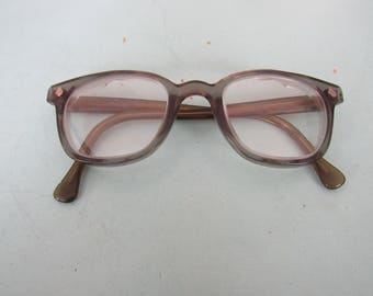 Vintage American Optical Safety Glasses Flexi-Fit 6 M Buddy Holly Free Shipping