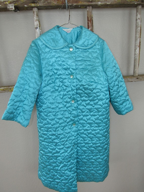 Vintage Gaymode Penney's Quilted Housecoat Robe Fr
