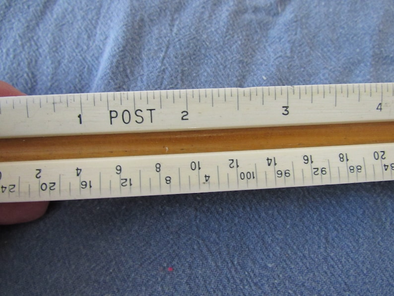 Vintage Post 1331C Wooden Triangular Ruler Drafting Architect Free Shipping