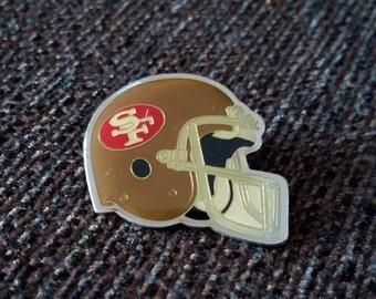 Vintage San Francisco 49ers Helmet Pin Starline Free Shipping