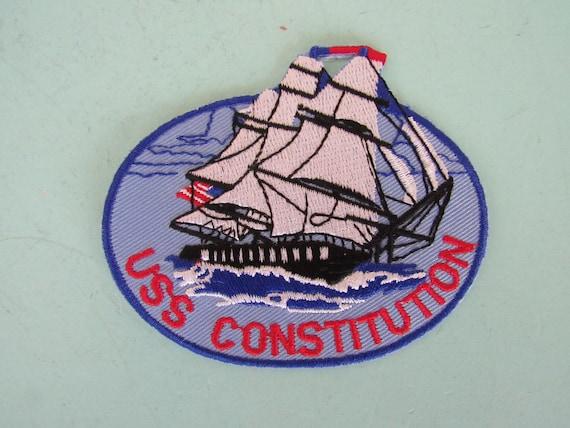 vintage uss constitution patch boston massachusetts free