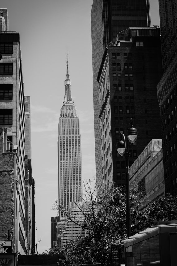 """Empire State Building photography poster 24x36/"""" Horizontal New York City"""