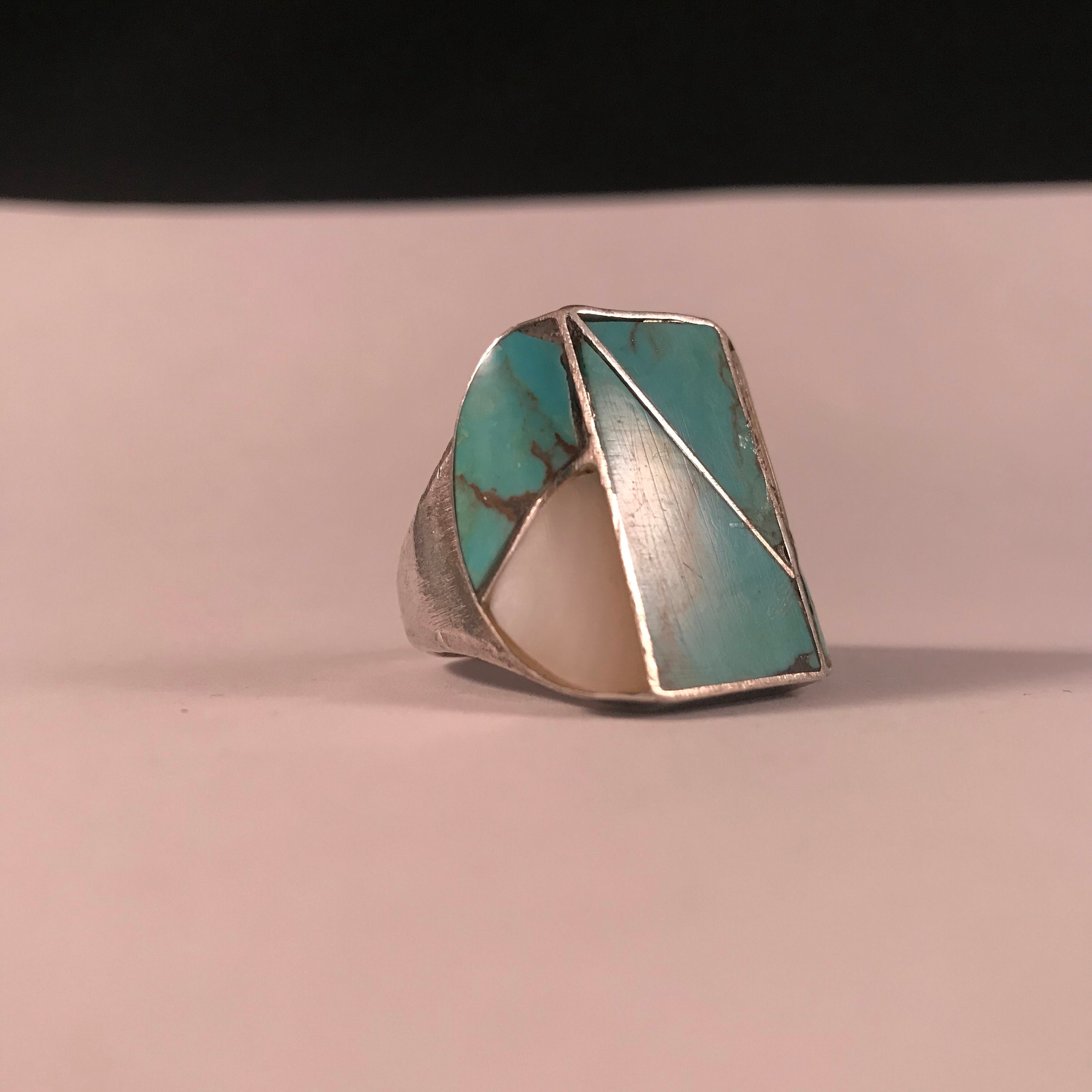 Vintage Native American zuni turquoise and mother of pearl