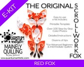 The Original Quilled Scrollwork Fox Pattern