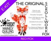 The Original Quilled Scrollwork Fox Pattern