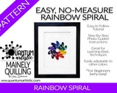 Easy No-Measure Rainbox Spiral Quilling Pattern | Digital