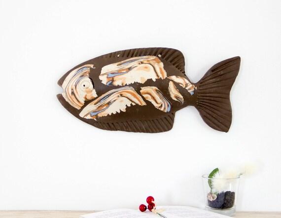 3D Wall Art Ceramic fish sculpture Wall decor Hanging | Etsy