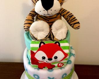 Tiger nappy cake