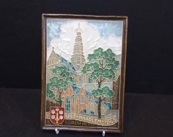 Vintage Cloisonne Tile Porceleyne Fles Delft Lizard Tegel Pottery & China