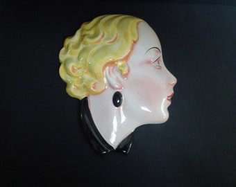 Art Deco Wall Mask.  English. C & Co
