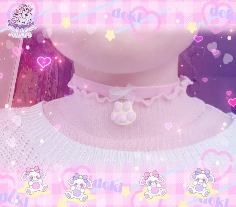 Kitty Paw choker fairy kei pastel lolita