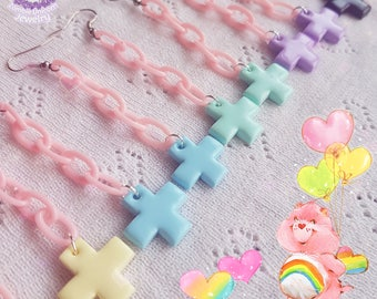 Pastel Hospital cross earrings menhera