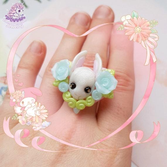 Bunny Garden choker white version pastel  yumekawa  easter