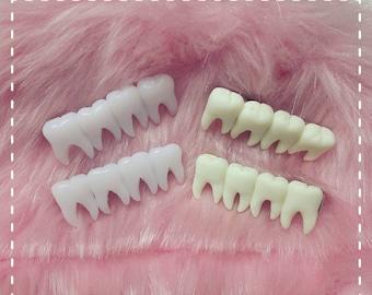 Tooth fairy hair clips creepy halloween goth horror
